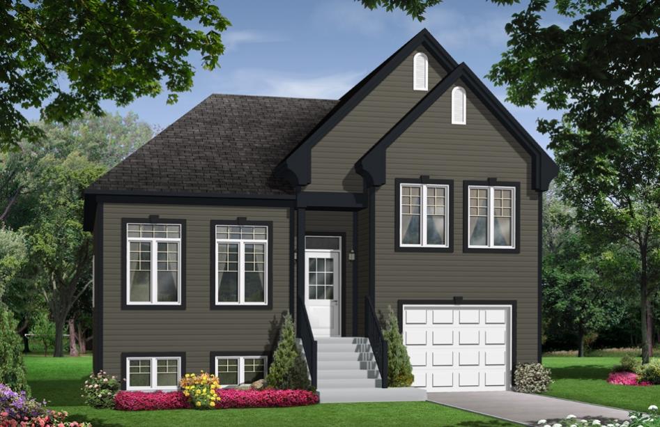 Plans de maison en 3d les entreprises lachance - Garage ouvert ...