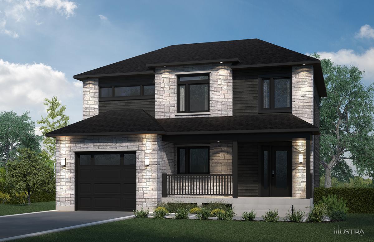 Plans de maison en 3d les entreprises lachance - Modeles de maisons a construire ...